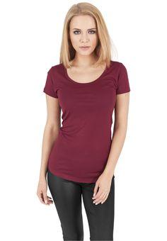 Urban Classics Ladies Basic Viscon Tee Damen T-Shirt Rot