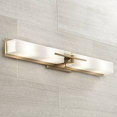 Bathroom Light Fixtures & Vanity Lights - Page 2 Bathroom Ceiling Light, Semi Flush Ceiling Lights, Bathroom Sconces, Gold Bathroom, Bathroom Light Fixtures, Wall Fixtures, Master Bathroom, Vanity Light Bar, Vanity Lighting