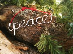 Peace  Wire Christmas Ornament  Holiday Decor by SaraAart on Etsy, $10.00