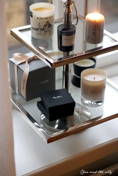 Riviera Maison tray, candles | Via Char and the city