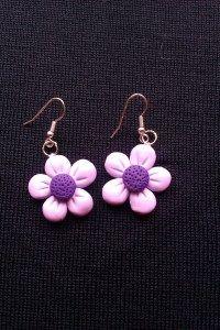 orecchini fiorellini lilla