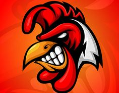 Rooster Mascot logo