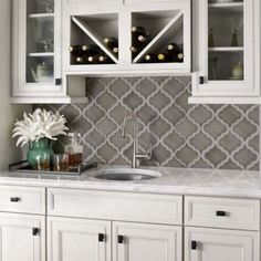 Best 17 Great Arabesque Tile Backsplash Images Washroom Diy 400 x 300