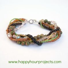 wonderful twisted bracelet DIY.