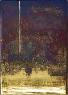 """Landscape, Horizon, Orbite I"" tempera and gold leaf by Sei Arimori (© 2009)"
