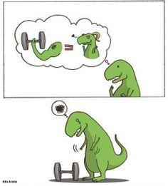 Pobre, pooooobre dinosaurio. ¿Qué le pasa?