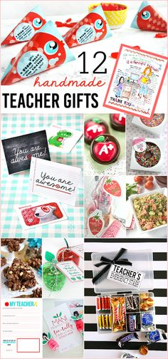 Cute collection of 12 awesome Handmade Teacher Gifts!