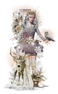 """""""Winter Elf"""" by tracireuer ❤ liked on Polyvore featuring art"""