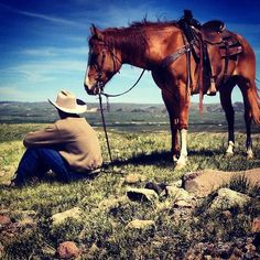 Takin' it all in …  /Like this picture, would be nice on the cover of Western Horseman EL