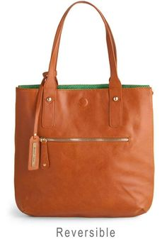 Role Reversal Bag in Cognac and Green | Mod Retro Vintage Bags | ModCloth.com - StyleSays