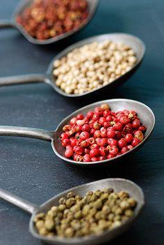 Different peppercorns