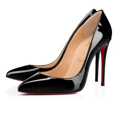 Stilettos, Patent Heels, Patent Leather Pumps, Stiletto Heels, Black Louboutins, High Heels, Ysl Heels, Leather Shoes, Red Leather