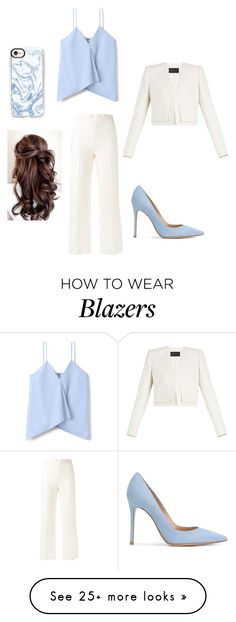 """""""Going Somewhere"""" by keefesencen on Polyvore featuring BCBGMAXAZRIA, Fendi, Gianvito Rossi and Casetify"""