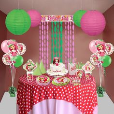 Ms. Strawberry Shortcake is here to add a flavor in your lil' girl's birthday party.  #StrawberryShortcakePartySupplies   #StrawberryShortcakeParty  #GirlBirthdaySupplies