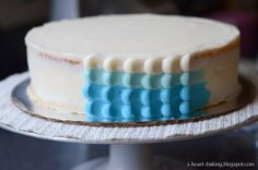 i heart baking!: blue whale baby shower cake
