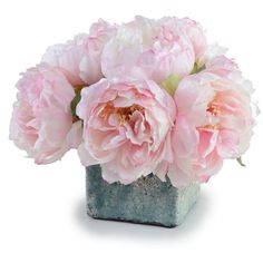 New Growth Designs Pink Peony Faux Flower ($305) ❤ liked on Polyvore featuring home, home decor, floral decor, flowers, fillers, decor, plants, backgrounds, effect and pink artificial flowers