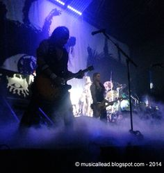 Alice Cooper with Motley Crue in Moline in a dark silhouette