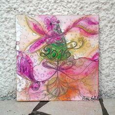Carte de voeux nouvelle année 2016 peinte à la main en peinture aquarelle originale unique : Cartes par coralie-bellal