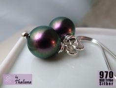 Silber Ohrringe - ***ECHT SILBER!*** Ohrringe Just Pearls Lila - ein Designerstück von Thaliana bei DaWanda