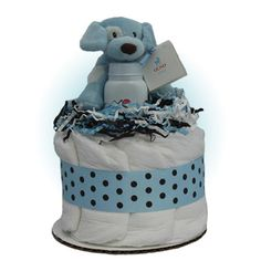 Blue Sparky Diaper Cupcake