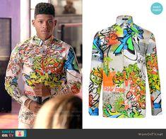 a106500c923 Hakeem s graffiti print shirt on Empire. Outfit Details  http   wornontv.