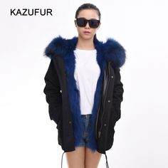 Check out this product on Alibaba.com APP Winter Warm Fur Lined Parka Coat For Women blue dyed color fox fur parka KZ150119