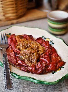 Ensalada berenjena pimiento Jewish Recipes, Mexican Food Recipes, Ethnic Recipes, Cooking Recipes, Healthy Recipes, Tapas, Yummy Appetizers, Other Recipes, I Love Food
