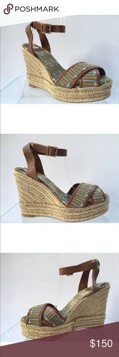 6807bc961a65 Shop Women s Tory Burch Tan Brown size 10 Espadrilles at a discounted price  at Poshmark. Description  New Message if you have any questions.