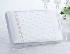 Scattered Pearl Wedding Guest Book