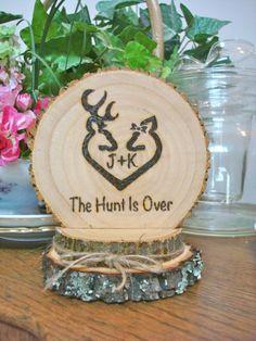 Rustic Wedding Cake Topper Deer Hunting Wood by SweetHomeWoods
