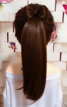 1 Minute Back to School Hairstyles for Medium Long Hair - Kurzhaarfrisuren Hairstyles For Medium Length Hair Easy, Medium Hair Styles, Curly Hair Styles, Hair Upstyles, Long Hair Video, Diy Hairstyles, Black Hairstyles, Easy Ponytail Hairstyles, Waitress Hairstyles