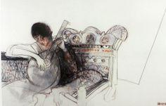 MARGARET WOODWARD Australian Painting, Australian Artists, Face Sketch, Portrait Images, 2d Art, Figure Painting, Art Boards, Art Drawings, Art Projects