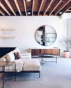 oversized circle mirror. / sfgirlbybay