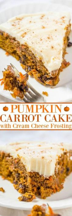 The Best Pumpkin Carrot Cake with Cream Cheese Frosting by lucinda