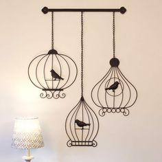 Wrought Iron Metal Wall Art Large 52cm Vintage BIRDCAGES Outdoor | Other Home Decor | Gumtree Australia Liverpool Area - Prestons | 1074338038