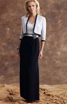 Floor-length Sheath Bicolor Coat/ Jacket Mother Of The Bride #Dress Style Code: 06421 $149.00