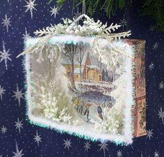 Shadow box made from christmas card – Artofit Christmas Shadow Boxes, Christmas Paper Crafts, Christmas Ornaments To Make, Christmas Scenes, Christmas Bells, Christmas Deco, Christmas Projects, Kids Christmas, Handmade Christmas