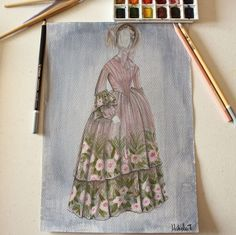 La Traviata, Zeffirelli 1983 (Piero Tosi)    #costume #fashionillustration #cinema #film #art #vintage #costumedesign #movie #design #drawing #picoftheday #zeffirelli #pierotosi #dress #flowers #history