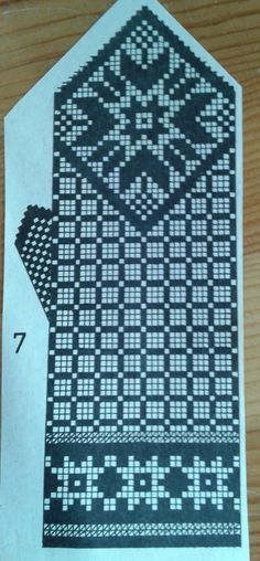 Double Knitting Patterns, Knitting Charts, Knitting Designs, Knitting Projects, Hand Knitting, Crochet Mitts, Knitted Mittens Pattern, Knit Mittens, Knitted Gloves