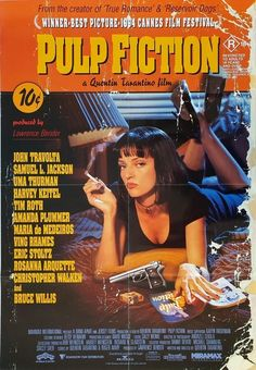 Pulp Fiction - Film Poster Gallery – Poster - Canvas Print - Wooden Hanging Scroll Frame