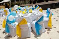 Tables at a baby shower #babyshower #table