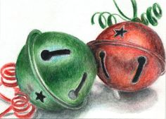 Coloured Pencil Bells