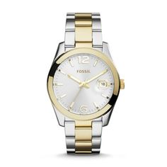 FOSSIL - Fossil Perfect Boyfriend Three-Hand Date,Two Tone Watch. Love, love, love.