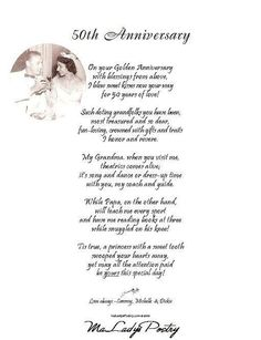 50th wedding anniversary poems 50th wedding anniversary poem golden anniversary poems google search stopboris Gallery