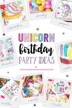 Unicorn Birthday Party Ideas | by Jessica Wilcox of Modern Moments Designs | www.modernmomentsdesigns.com