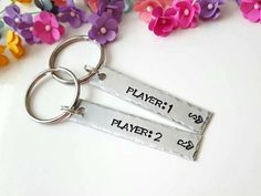 Player 1 Player 2, Gamer Couple Gifts, Gift for Gamers, Personalized Keychains, Boyfriend Gift, Matching Keychains, Christmas Gift