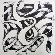 Art 1. Ribbon. Cross-hatching