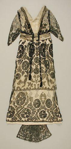 Dress, silk, American 1912–13