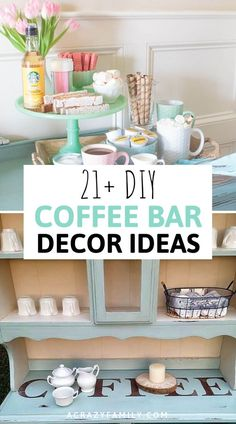21 Best DIY Coffee Bar Ideas For Your Home : Start your day off the best way possible with a cup of coffee made from one of these amazing coffee bar ideas! Coffee Table Decor Living Room, Decorating Coffee Tables, Diy Decorating, Dining Room, Thrift Store Furniture, Diy Furniture, Refurbished Furniture, Furniture Makeover, Painted Furniture