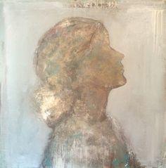 "Gold / aluminium powder.  "" Inner beauty "" (3)  *Figurative Art / Semi Abstract *"